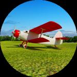 Avion de Antoine de Saint-Exupery Biplan au parc du Petit Prince