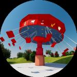 Manège des chaises volantes au parc du Petit Prince